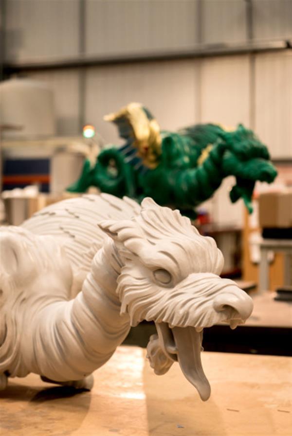 Ancient Dragon Sculptures