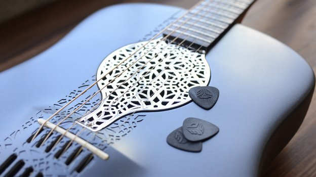 Awesome 3d Printed Acoustic Guitar By Scott Summit 3d