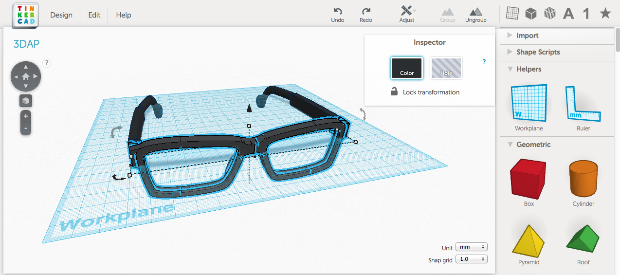 Design 3d printed eyewear with tinkercad part 1 3d Tinkercad 3d