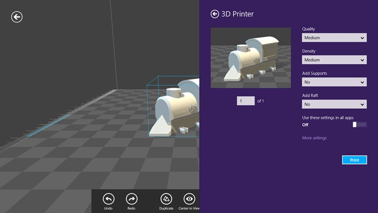 3D Builder 3D Printer Software By Microsoft