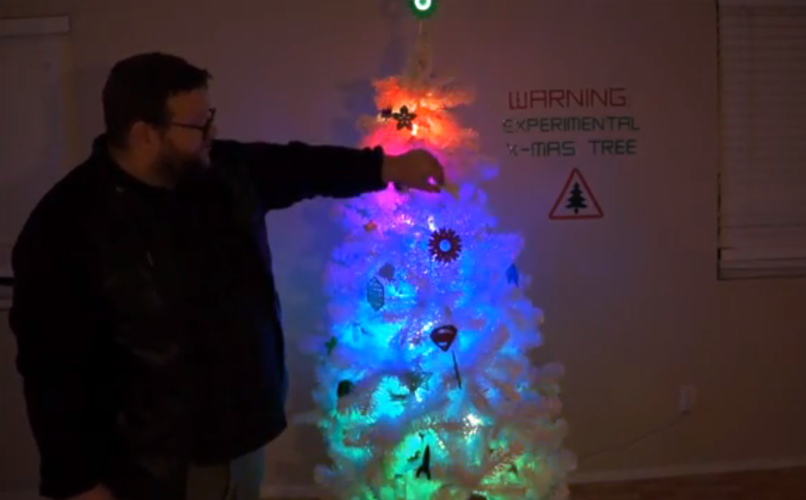 Man designs d printed christmas ornaments