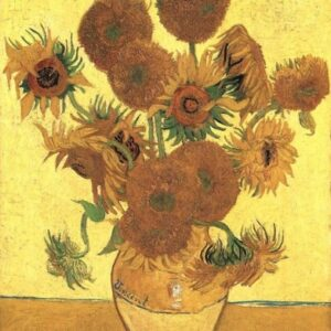 3d printed paintings Still-Life_-Vase-with-Fifteen-Sunflowers