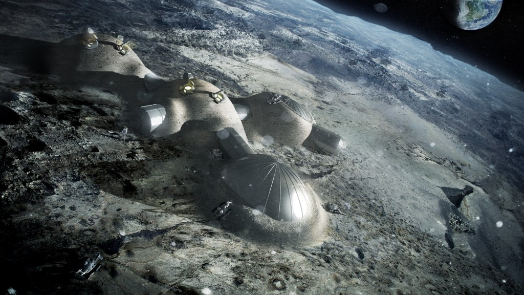 ESA Works on a 3D Printed Lunar Base