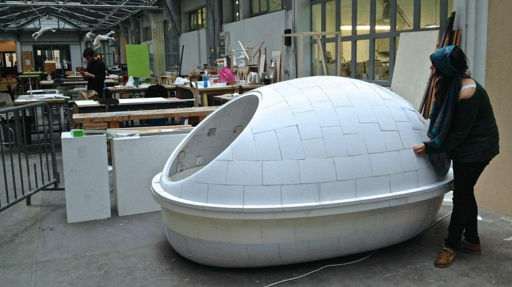 3D Printed Meditational Cocoon in Paris by March