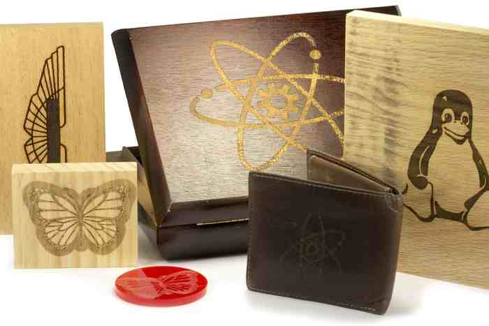 Objects laser engraved on BoXZY