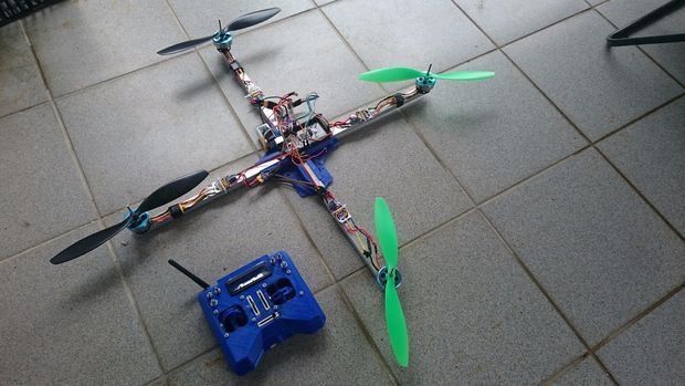 3d printed drone and joystick