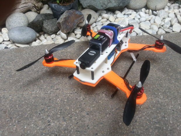 hframe 3d printed quadcopter