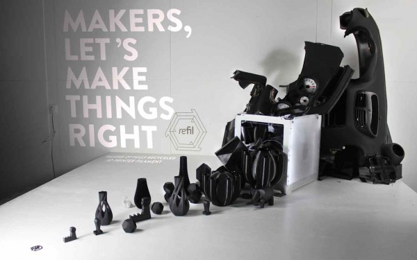 Refil makes 3D Printing Filament from Recycled Car Dashboards