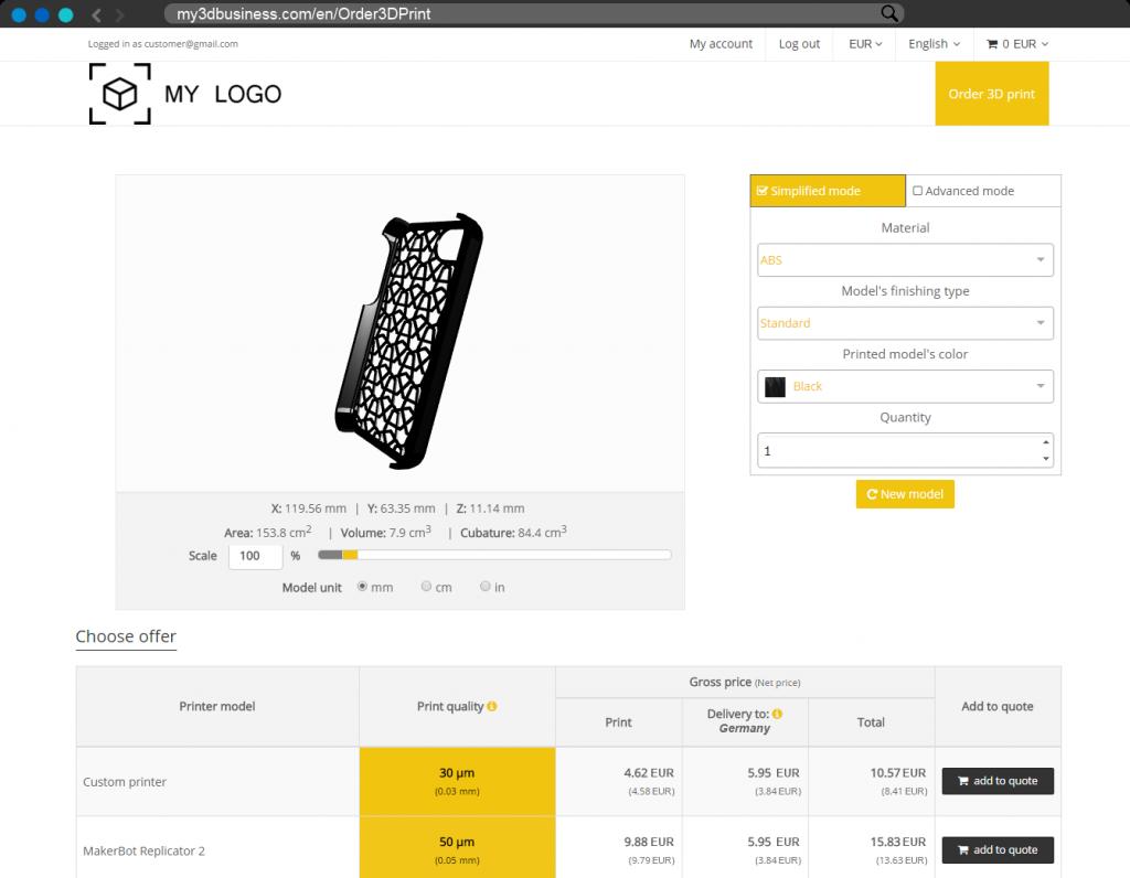Printelize Releases an Online Sales Automation Platform for 3D Printing Bureaus