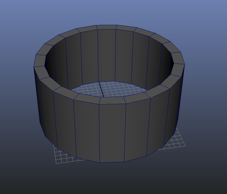 Entering Wall-thickness Value 2 3D Modeling Maya