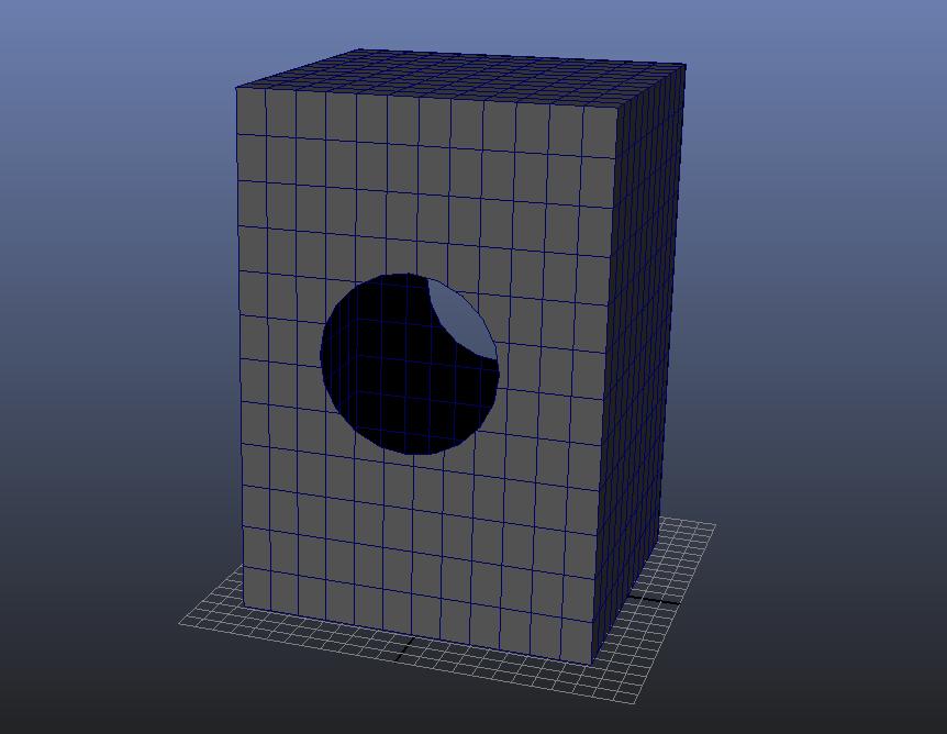 Closing object's interior free gaps 3D Modeling Maya
