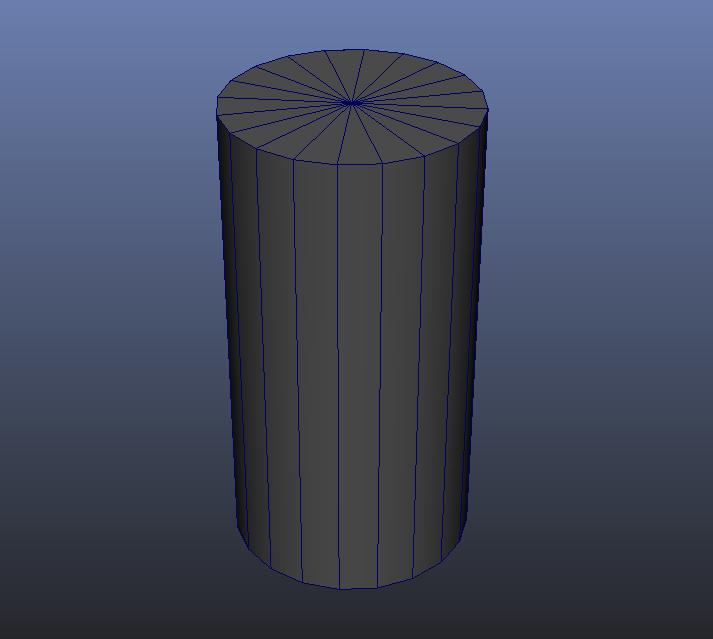 Cylinder 3D Modeling Maya