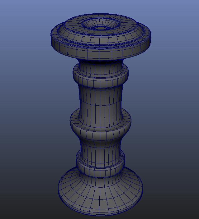 Altered Cylinder 3D Modeling Maya