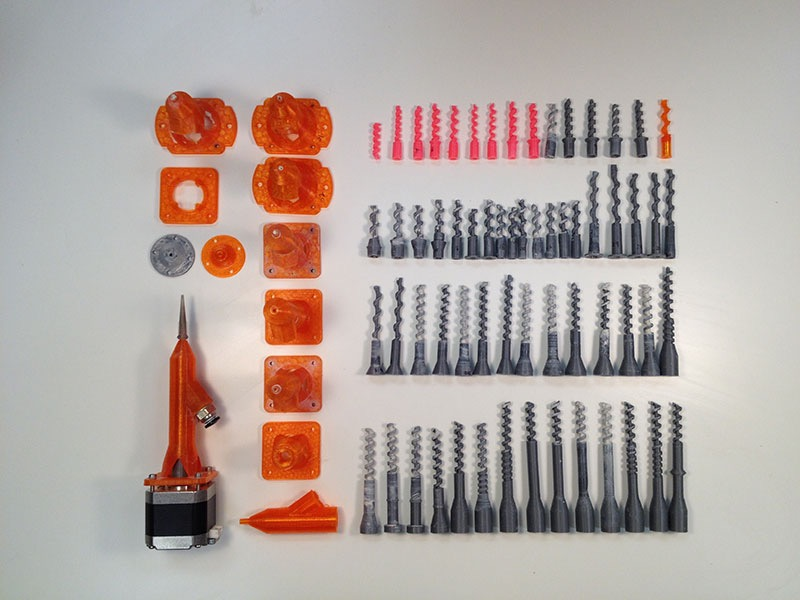 Auger Screws 3D Printing Ceramics