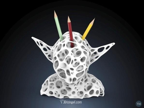 3D printed Volume Voronoi Yoda