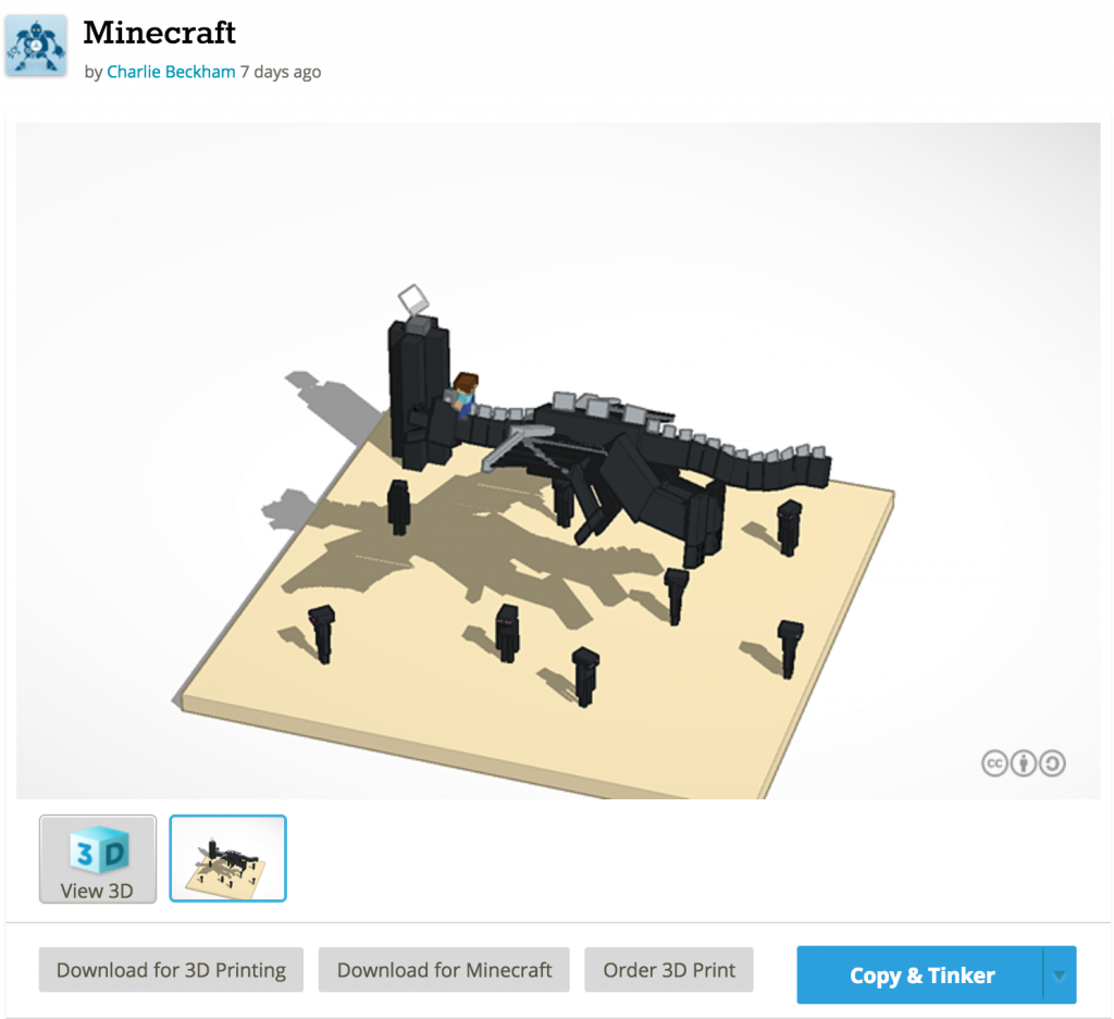 3DPrinting.com Tinkercad Minecraft