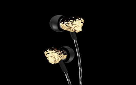 3D Printed earbuds gold