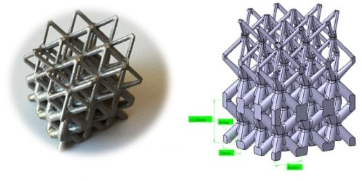 lettuce structure 3d metal printing