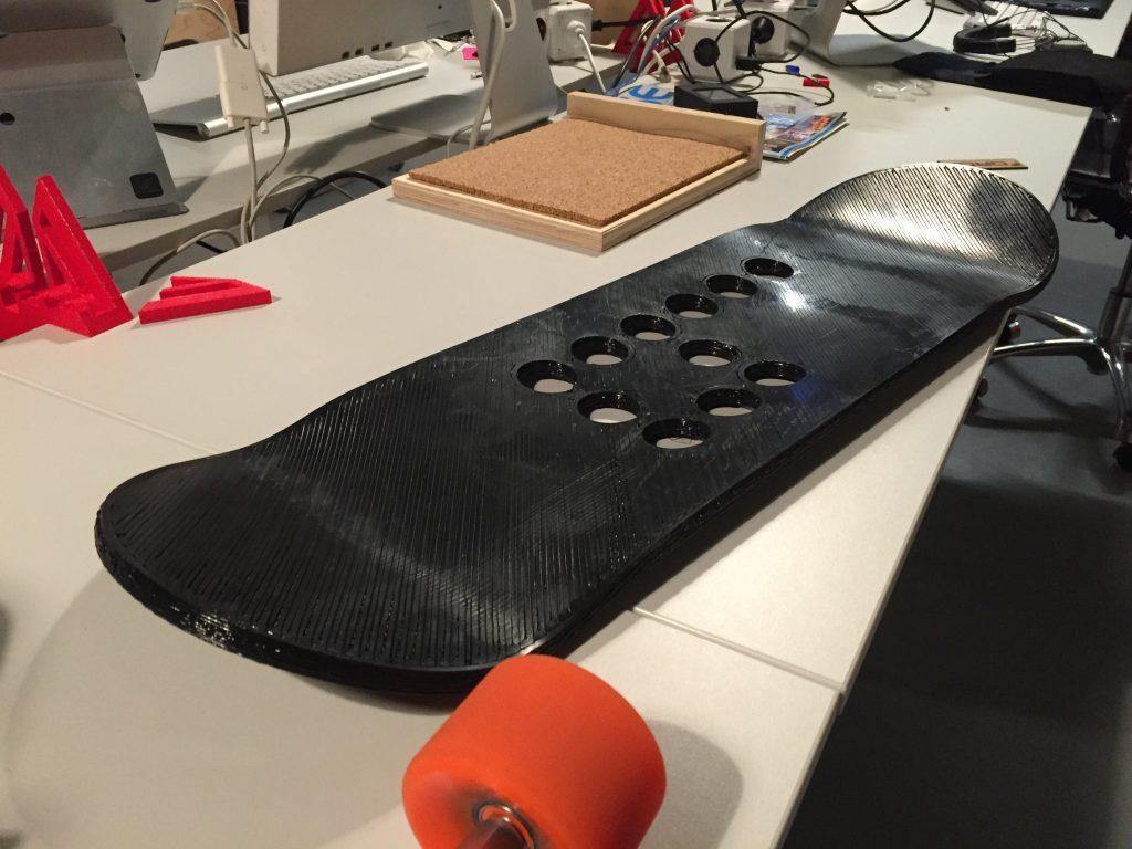 Finished 3D Printed Skateboard