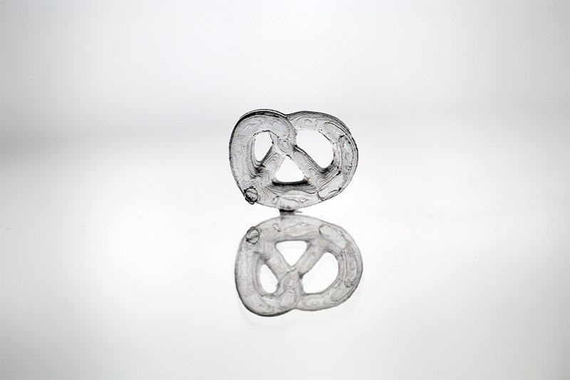 UV printed Light curable Pretzel German Researchers Glass Printing