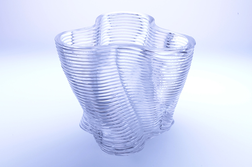 Glass 3D Printing sculpture fused silica