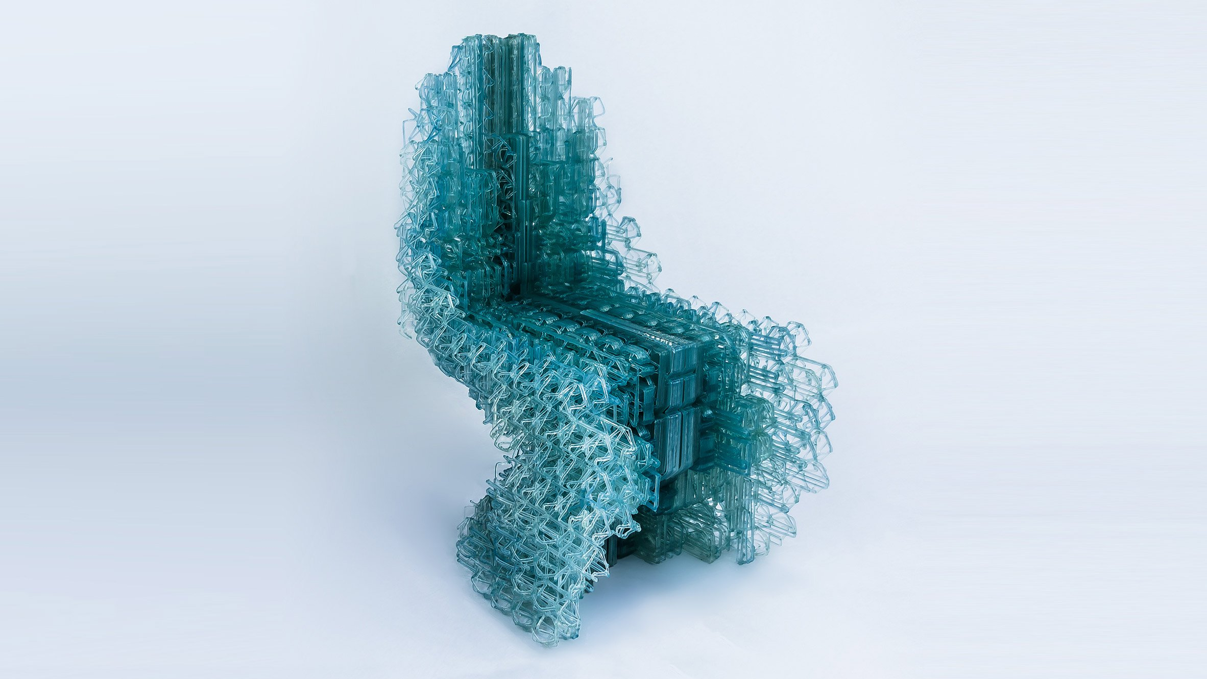 Designers at ucl 3d print voxel chair from single strand for Furniture 3d printing