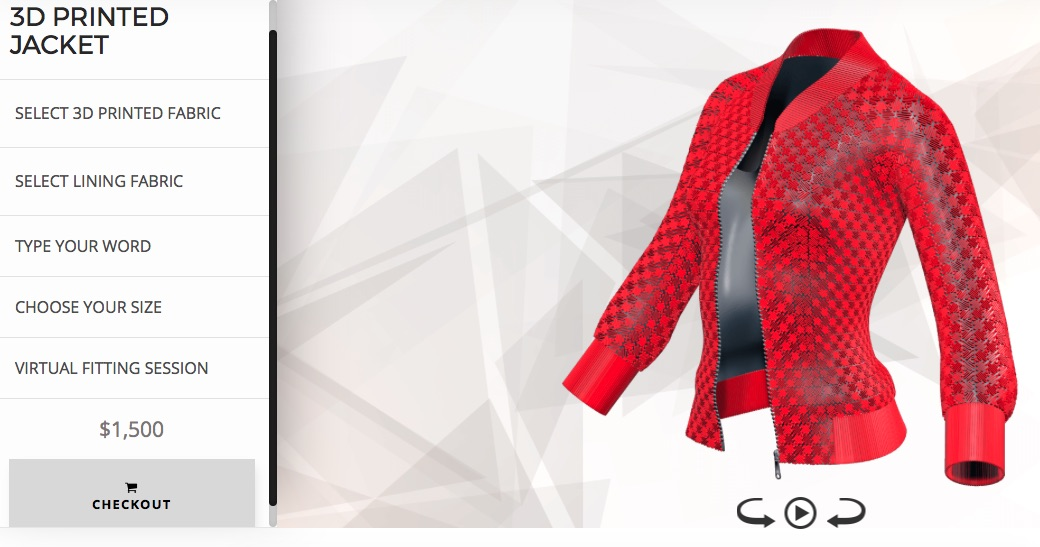 Danit Peleg Sells Customizable 3D Printed Jackets Online