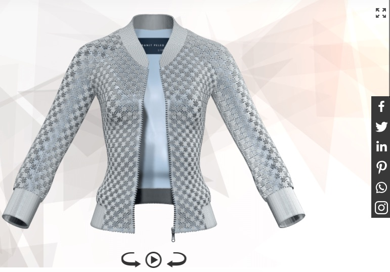 Jacket 3D Printed Designed and Customised Danil Peleg