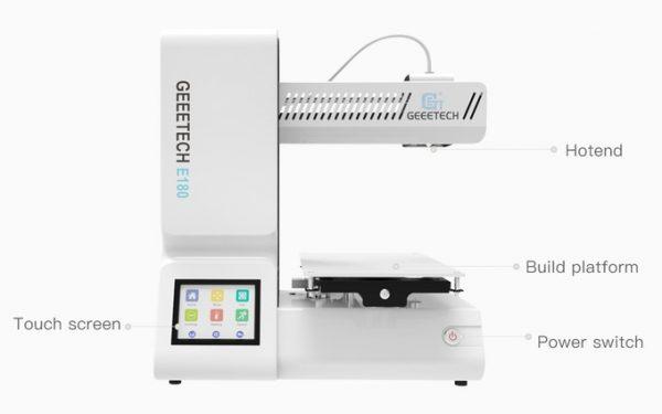 Geeetech Unveils New $199 E180 Mini 3D Printer on Kickstarter