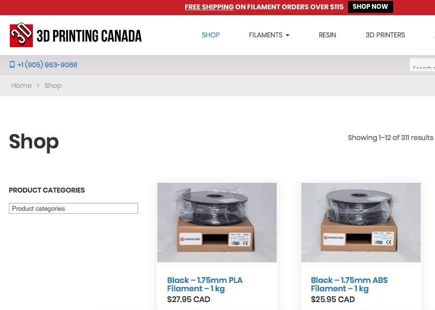 3D Printing Canada Store