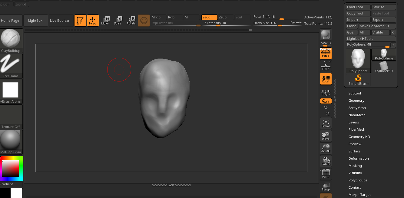ZBrush face and head proportions from reference