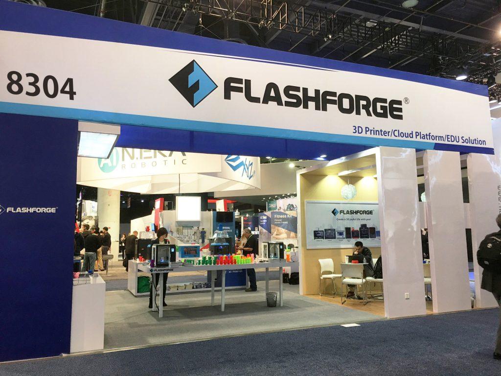 Flashforge Booth CES 2018