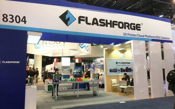 FlashForge Set to Introduce 4 New Machines at CES 2018