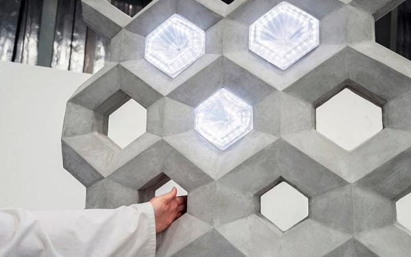 NOWLab Unveils Illuminating Smart Concrete Wall