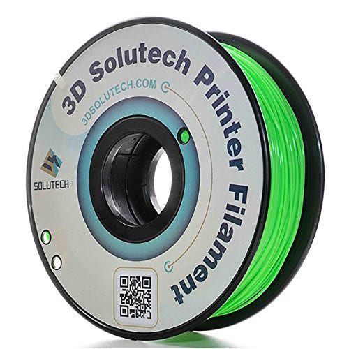 3D Solutech ABS Filament, 1.75mm, 1.0kg Spool, Green
