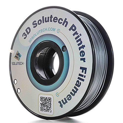 3D Solutech PLA Filament, 1.75mm, 1.0kg Spool, Silver