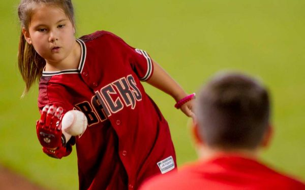 Girl With 3D Printed Arm Throws First Pitch in Arizona Baseball Game