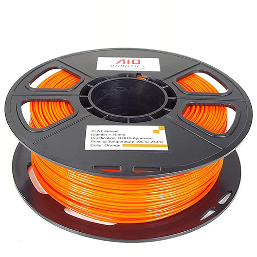 AIO Robotics PLA Filament, 1.75mm, 500g Spool, Orange