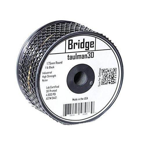 Taulman 3D BRIDGE Nylon Filament, 1.75mm, 1.0lb Spool, Black