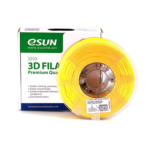 eSUN ABS Filament, 1.75mm, 1.0kg Spool, Yellow