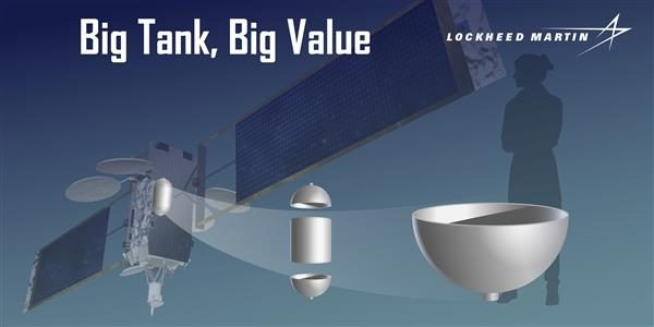 Lockheed Martin Prints Titanium Satellite Fuel Tank