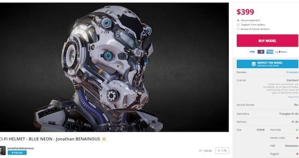 Sketchfab Launches Store Selling 3D Models, VR & More
