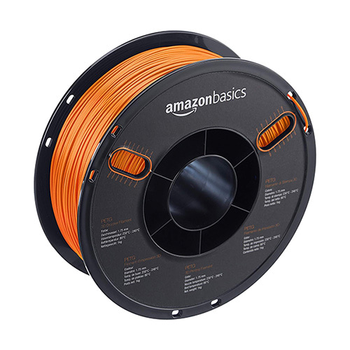 AmazonBasics PETG Filament, 1.75mm, 1.0kg Spool, Orange