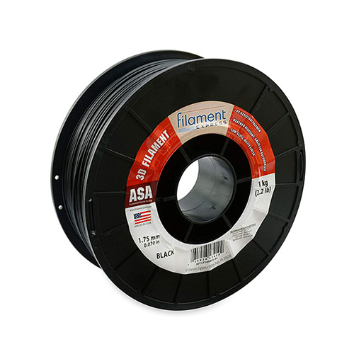 Filament Express ASA Filament, 1.75mm, 1.0kg Spool, Black