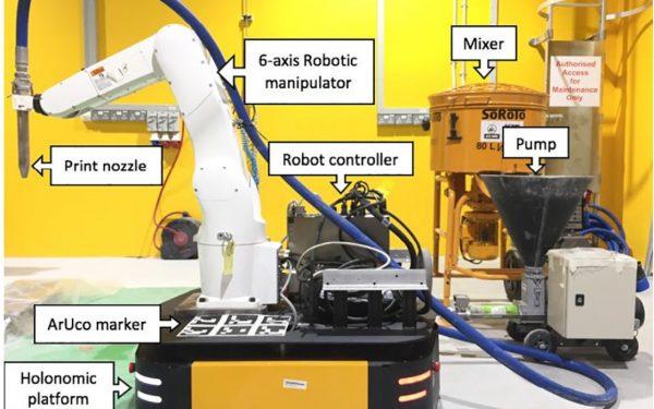Singapore Researchers 3D Print Concrete Using Mobile Robots