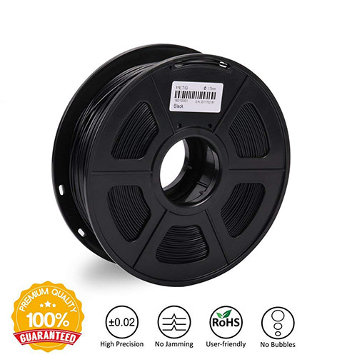 Sunlu PETG Filament, 1.75mm, 1.0kg Spool, Black