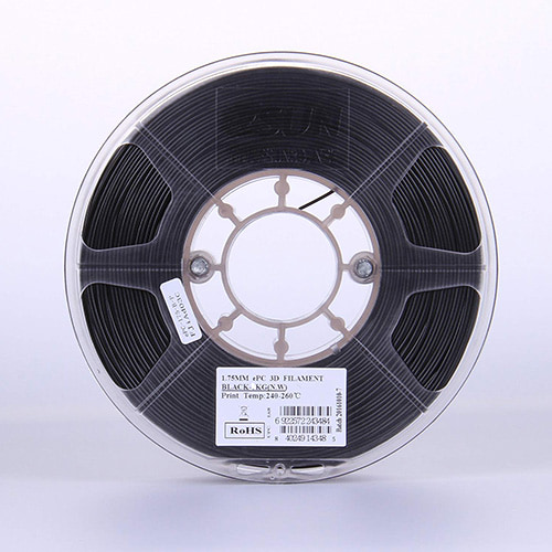 eSUN ePC PolyCarbonate (PC) Filament, 1.75mm, 500g Spool, Black