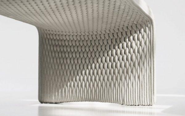 Studio 7.5 Prints 3D 'Woven' Concrete Benches in Berlin