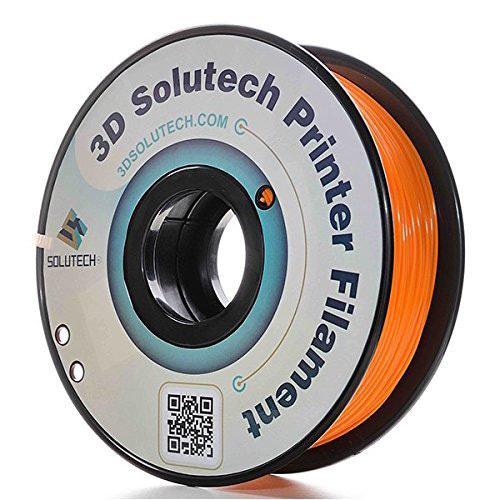 3D Solutech ABS Filament, 1.75mm, 1.0kg Spool, Orange