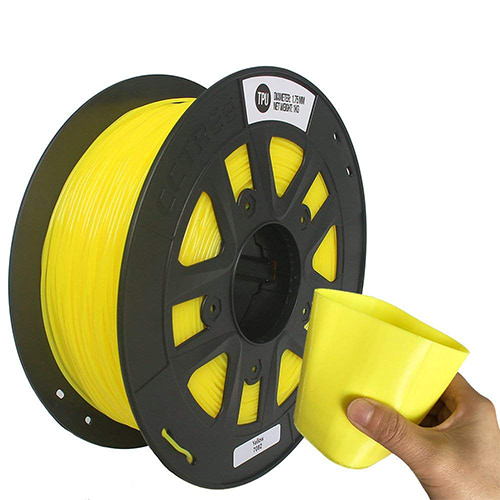 CCTREE TPU Filament, 1.75mm, 1.0kg Spool, Yellow